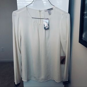 Ivory Blouse with Cuff Detail